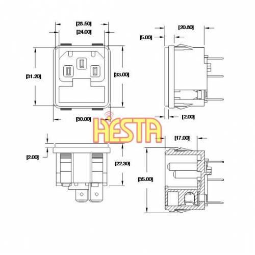power inlet box wiring diagram