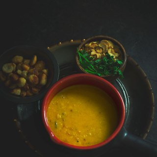 Spicy Dal with Chora Vadi & Cashews