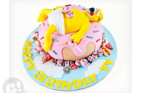 Homer Simpsons Donut Birthday Cake