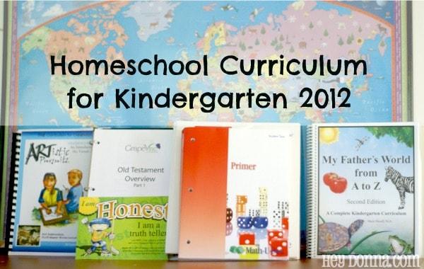 Our Kindergarten Homeschooling Curriculum - Hey Donna
