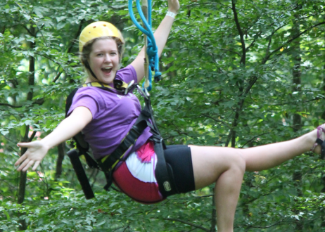Zipline at Rafting in the Smokies Tennessee