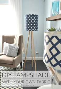 DIY Drum Shade with My Own Fabric!