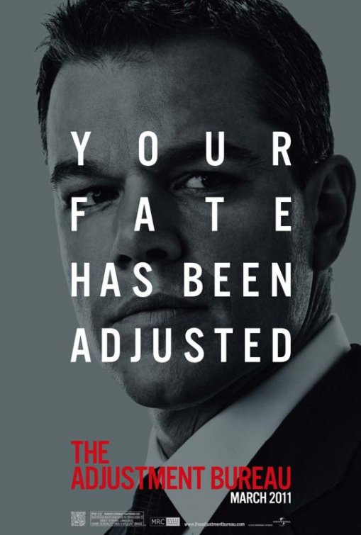 adjustment bureau poster New Adjustment Bureau Posters Only Slightly Adjusted