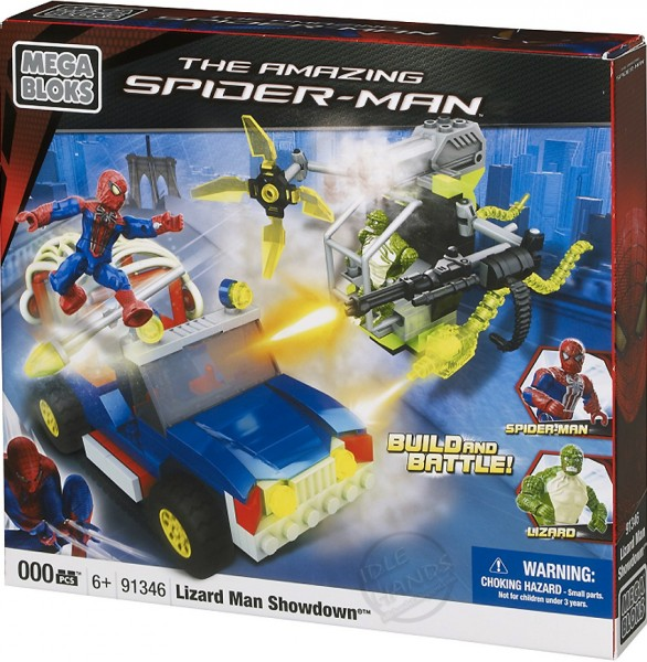 amazing spider man toy mega blocks lizard man showdown 586x600 Searching for Spoilers with Mega Bloks Release of The Amazing Spider Man Toys