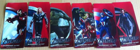 The Avengers promo red envelopes 1 The Avengers Gets Awesome New Promo Images And Red Envelopes To Celebrate The Chinese New Year