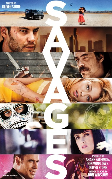Savages poster 378x600 Brilliant First Poster for Oliver Stone's Savages with Blake Lively, Benicio Del Toro & More