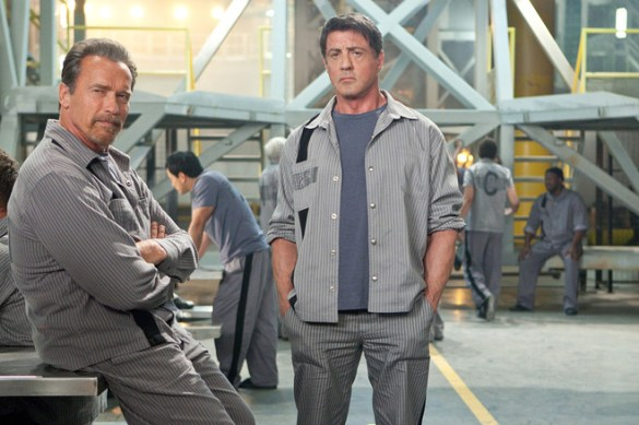 Arnold Schwarzenegger and Sylvester Stallone in The Tomb 585x389 First Official Image of Arnold Schwarzenegger & Sylvester Stallone in The Tomb