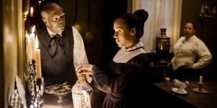 Samuel L. Jackson and Kerry Washington in Django Unchained