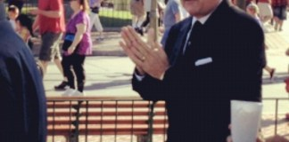 Tom Hanks on set of Saving Mr. Banks