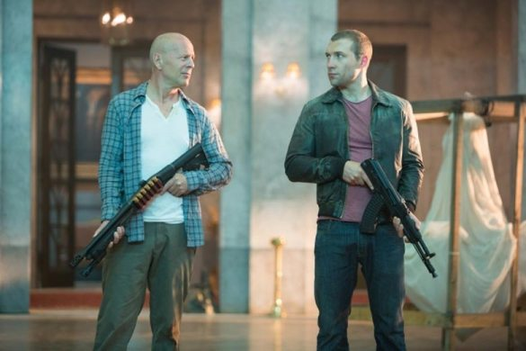 Bruce Willis and Jai Courtney in A Good Day to Die Hard 585x390 New Image of Bruce Willis & Jai Courtney in A Good Day to Die Hard