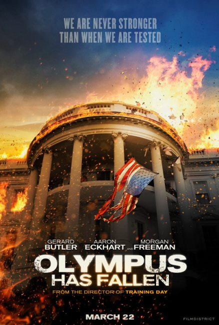 Olympus Has Fallen Poster 438x650 First Trailer for Olympus Has Fallen with Gerard Butler