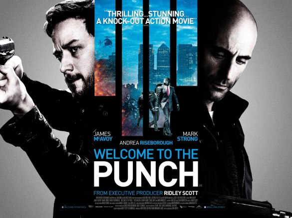 Welcome to the Punch Quad Poster 585x438 New Quad Poster for Welcome to the Punch with James McAvoy & Mark Strong