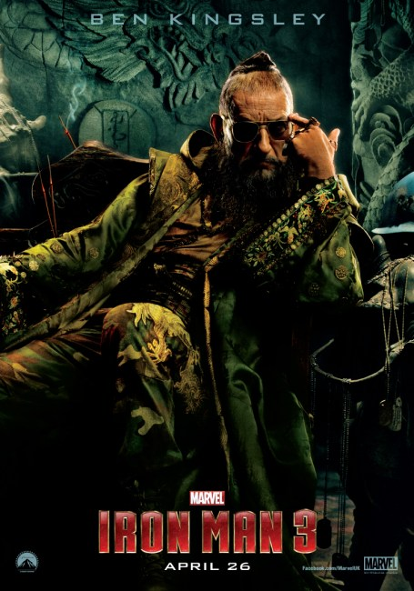Iron Man 3 Character Poster Ben Kingsley 455x650 New Character Poster for Ben Kingsley's The Mandarin in Iron Man 3
