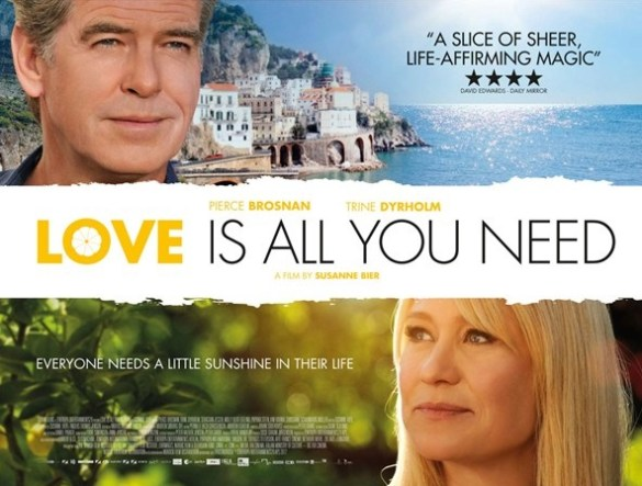 Love Is All You Need UK Quad Poster 585x443 UK Quad Poster for Susanne Bier's Love Is All You Need with Pierce Brosnan