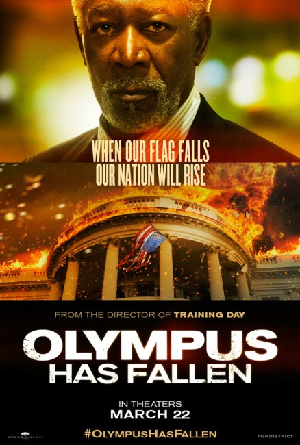 Olympus Has Fallen Character Poster – Morgan Freeman 438x650 New Character Poster for Morgan Freeman in Olympus Has Fallen