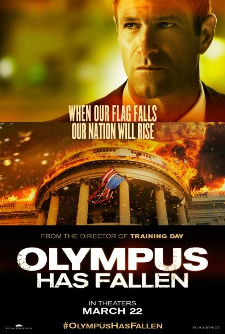 Olympus Has Fallen Character Poster Aaron Eckhart 438x650 New Character Poster for Aaron Eckhart in Olympus Has Fallen