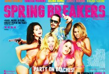 Spring Breakers UK Quad Poster Blue 220x150 New Featurette for Spring Breakers with Vanessa Hudgens & Selena Gomez – 'Bad Girls'