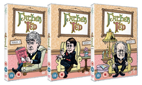 Father Ted all 3 Packshots 585x350 Father Ted DVD Review