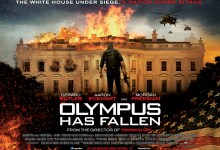 Olympus Has Fallen Quad Poster UK 220x150 New Trailer for Olympus Has Fallen with Gerard Butler & Morgan Freeman