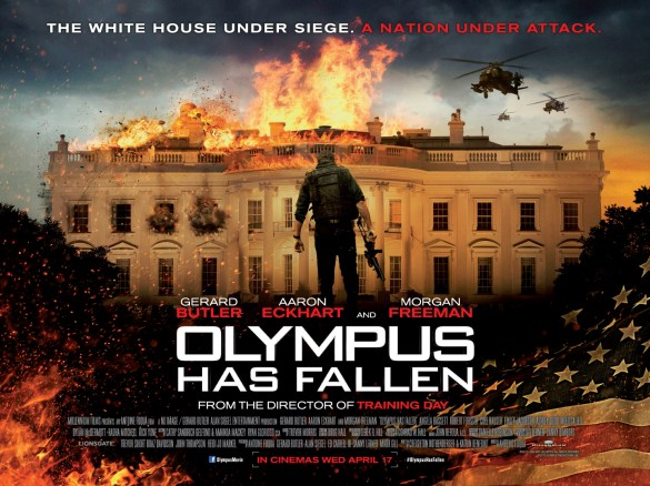 Olympus Has Fallen Quad Poster UK 585x438 The HeyUGuys Instant Watching Guide   January 6th 2014