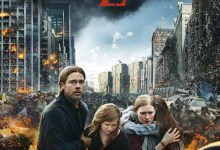 World War Z Poster UK 220x150 Fire and Zombies Plague the New Poster for World War Z with Brad Pitt