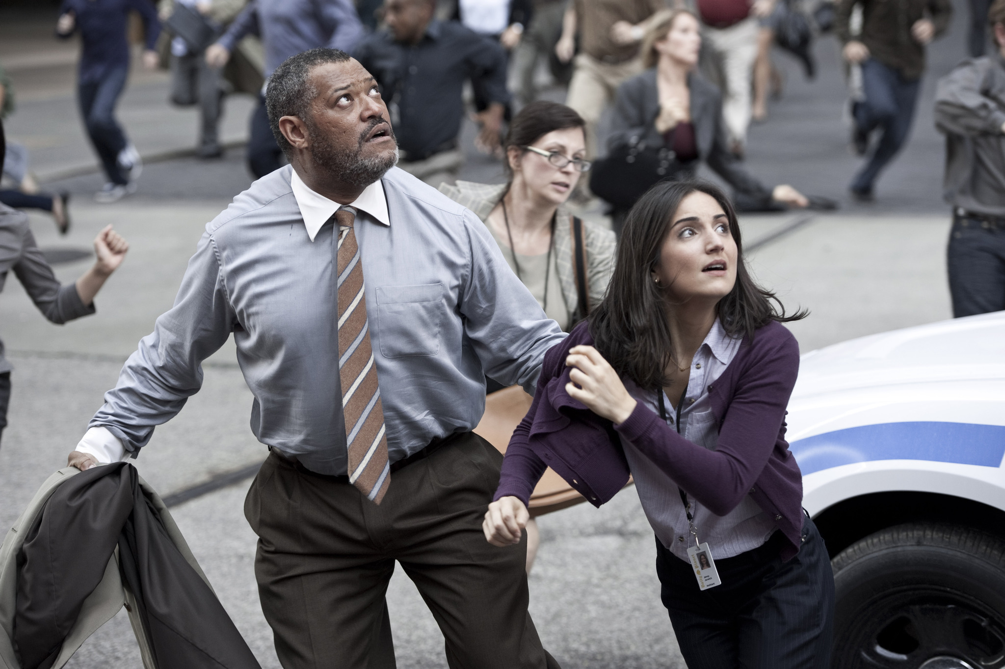 Laurence Fishburne and Rebecca Buller in Man of Steel ...