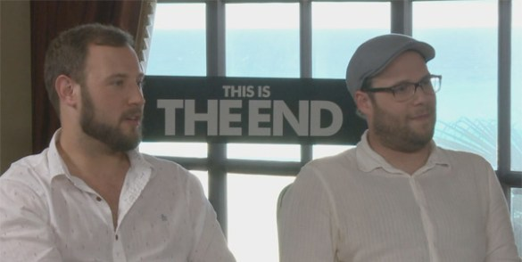 Seth Rogen and Evan Goldberg 585x294 The HeyUGuys Interview   Seth Rogen and Evan Goldberg Talk This is the End