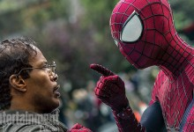 Jamie Foxx and Andrew Garfield in The Amazing Spider Man 2 220x150 Spidey has Strong Words with Max Dillon / Electro in New Image from The Amazing Spider Man 2