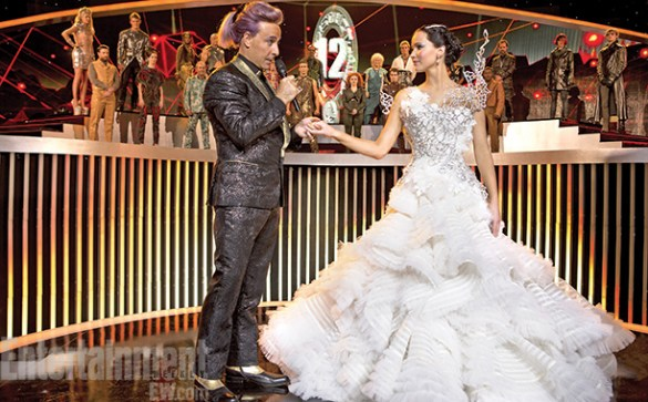 Stanley Tucci and Jennifer Lawrence in The Hunger Games Catching Fire 585x363 New Image of Jennifer Lawrence & Stanley Tucci in The Hunger Games: Catching Fire