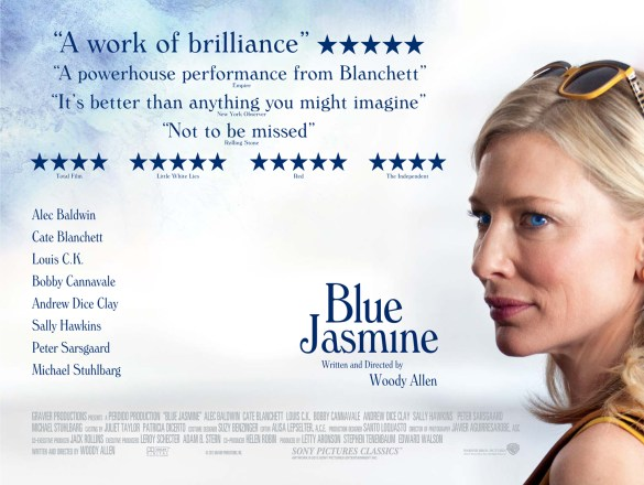 Blue Jasmine UK Poster 585x440 Win tickets to the UK premiere of Woody Allens Blue Jasmine