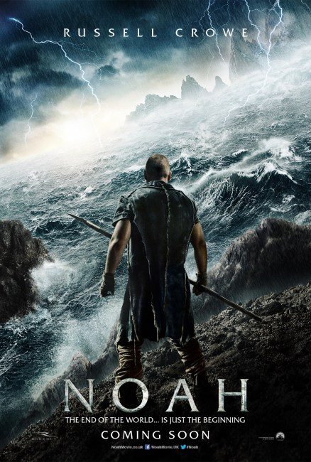Noah UK Teaser online 438x650 First Poster and Footage from Darren Aronofskys Noah Arrives, Full Trailer Tomorrow