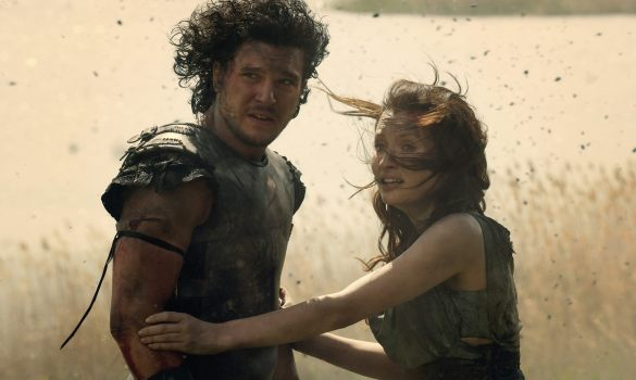 Kit Harington and Emily Browning in Pompeii 585x350 First Full Length Trailer for Paul W.S. Anderson's Pompeii with Kit Harington & Emily Browning