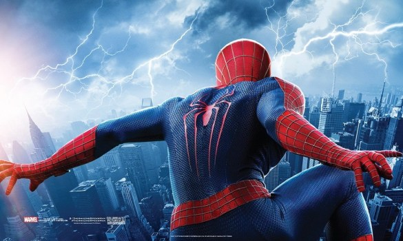 The Amazing Spider Man 2 Poster slice 585x350 New Poster Teases an Epic Battle in The Amazing Spider Man 2