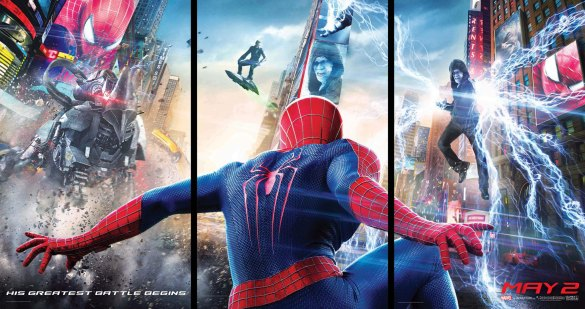 The Amazing Spider Man 2 Triptych Banner 585x309 New International Trailer for The Amazing Spider Man 2