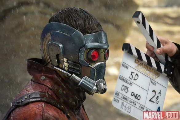 Chris Pratt 585x389 New Guardians of the Galaxy and X Men: Days of Future Past Featurettes