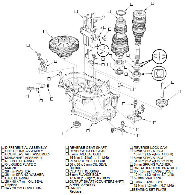 1998 honda accord transmission diagram