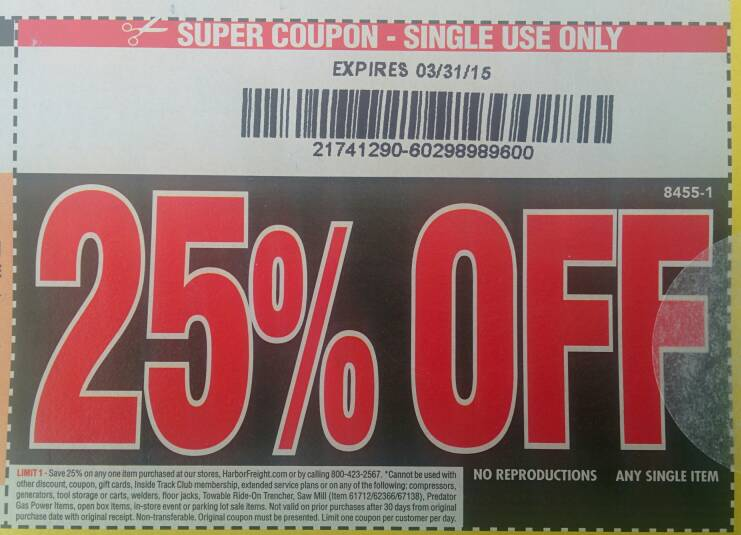 Harbor Freight Coupon Thread Archive - Page 31 - The Garage
