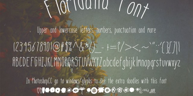 Free download ~ commercial use font, floridalia