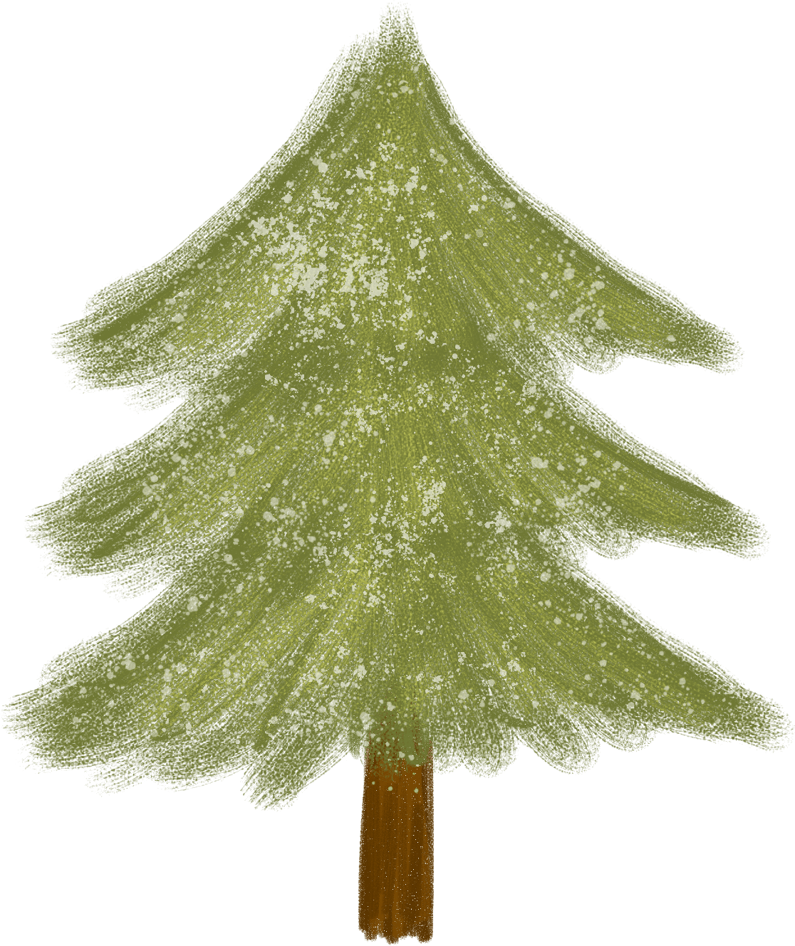 Free handmade Christmas tree png to download