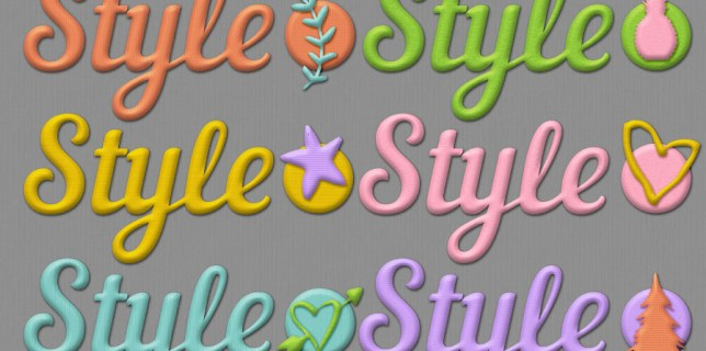 Free Download | Textured puffy Photoshop layer styles | Courtesy of hgdesigns.co