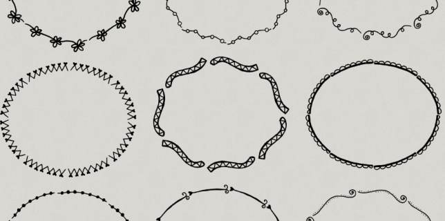Free download ~ assorted ovals photoshop brushes ~ courtesy of hgdesigns.co