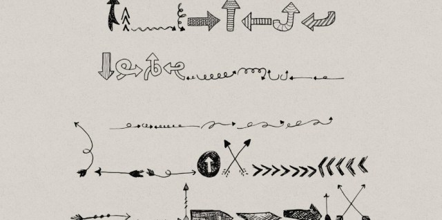 Free download ~ dingbat font featuring arrows in .otf format ~ courtesy of hgdesigns.co