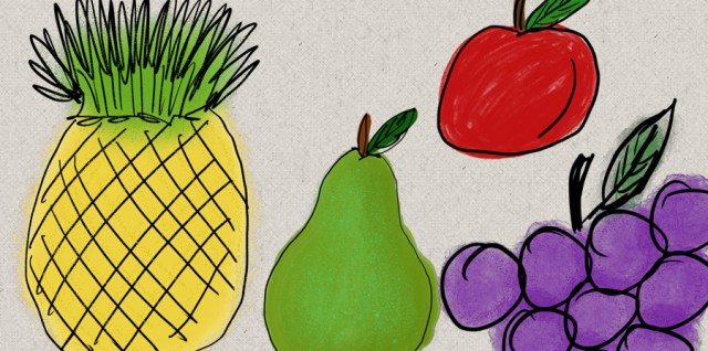 Free download ~ commercial use painted fruits ~ courtesy of hgdesigns.co