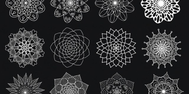 Free download ~ mandala flower photoshop brush set ~ courtesy of www.hgdesigns.co