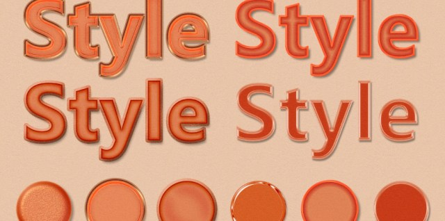 Free download ~ Orange Halloween Photoshop Layer Styles ~ courtesy of hgdesigns.co