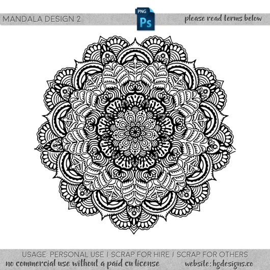 Free download ~ hand drawn mandala in png format #mandala ~ courtesy of hgdesigns.co