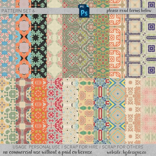 Free download ~ seamless tiling patterns ~ courtesy of hgdesigns.co