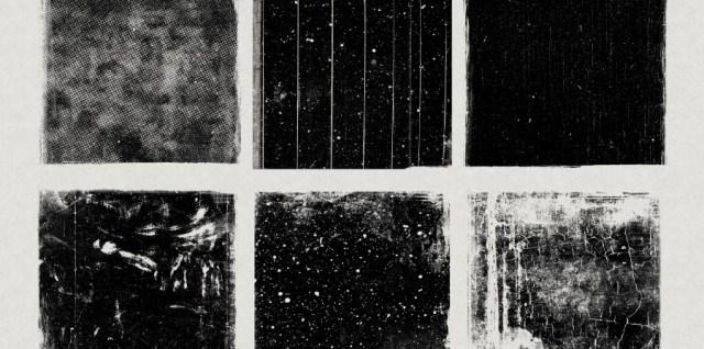 Free download ~ large grunge squares photoshop brushes plus jpg images