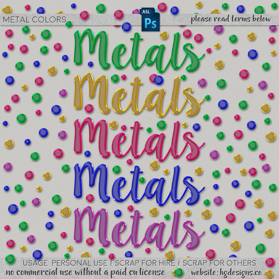 freebie: metallic photoshop layer styles