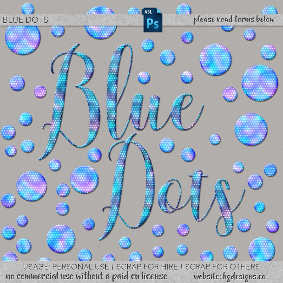 freebie: blue dots layer style